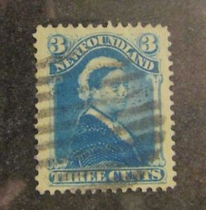 NEWFOUNDLAND Sc #49 Θ used 3 cent postage stamp, fine +