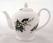 Lily of the Valley Teapot Fine Bone China 28 oz 800 ml Lilies Teapot Decorate UK