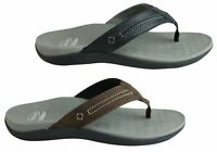 NEW SCHOLL ORTHAHEEL BERMUDA MENS COMFORTABLE LEATHER SUPPORTIVE THONGS