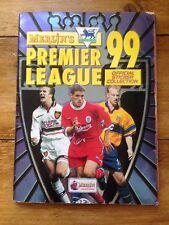 1999 MERLIN F.A. Premier League Calcio STICKER ALBUM DEL 55% completo in buonissima condizione