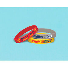 CARS 3 RUBBER BRACELETS (6) ~ Birthday Party Supplies Silicone Wristbands Favors