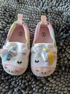 Infant Girls Unicorn Casual Pre-Walk Shoe 3D Unicorn Face & Rainbow Tassel 3