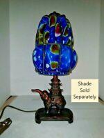 VTG Art Deco Nouveau Arts & Craft Elephant Lamp 1900-1940 Art Glass Shade Option