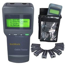 8108 Digital Comprobador Tester Cable LAN RJ45 5E, 6E Cable Coaxial Herramienta