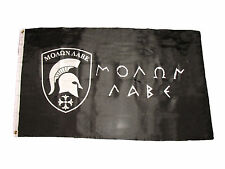 3x5 Molon Labe Flag 3x5 Black Greek Spartan Come and Take it Flag 3'x5' Grommets