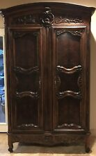 "HENREDON French Louis XV Armoire Wardrobe TV Entertainment Cabinet 104"" Tall"