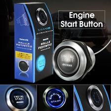 12V Car Engine Start Push Button Momentary Switch Ignition Starter Kit Blue LED