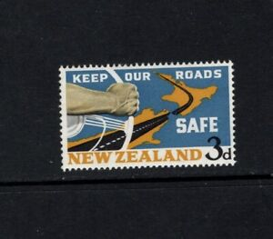 New Zealand 1964 National Road Safety Map Steering Wheel MNH SG 821 Sc 365