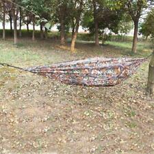 Camo Parachute Nylon Fabric Hammock Air Swing Chair Hanging Camping Outdoor