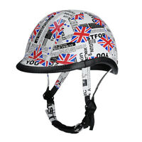 UK Impressionist Leather Motorcycle Helmet Stree Open Face