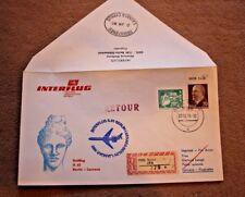 Interflug DDR Post Erstflug IL62 Berlin-Larnaca 1979 Luftpost Brief Umschlag RAR
