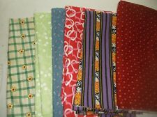 vtg cotton print quilt/sewing fabric lot 25