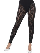 Ladies 80s 1980s 80's Fancy Dress Lace Leggings 1980's Madonna New by Smiffys