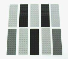 10 New LEGO 4 x 12 Baseplate Base Plate - Gray/Black