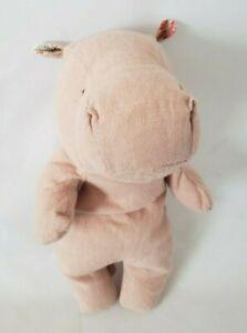 "Maileg Baby Pink Hippo Cloth Linen Plush Stuffed Animal 8.5"" Standing Beanies"