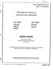 Pratt & Whitney R-1340 Wasp Engine Manual Parts Service 1960's historic period