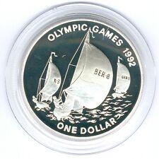"Bernuda 1 Dollar 1993 ""Segeln"" 31,57g 925er Silber, PP-"