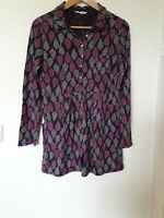 White Stuff Leaf Print Tunic Top Blouse Size 12