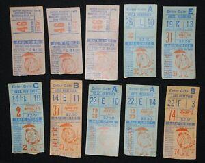 9 Vintage 1966-1967 New York Mets Ticket Stubs Shea Stadium -  Tom Seaver ?