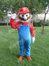 Mario Mascot Cartoon Fancy Theater Costumes Makeup Party Adult size 097