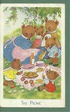 1960 WILLY SCHERMELE PC - THE PICNIC - TEDDY BEARS