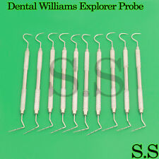 Dental Williams Explorer Probe 23 Color Coded Double Ended Instruments Set Of 10