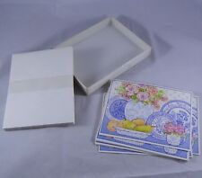 1991 Vintage Reflections in Blue Delft China 7 Note Cards & Envelops Tim O'Toole