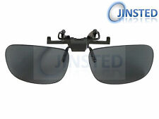 LARGE BLACK GLASSES FLIP FLIP-UP CLIP ON CLIP-ON SUNGLASSES SHADES SUNNIES AC002