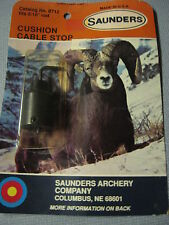 """Archery Bow Hunting Vintage Saunders Cushion Cable Stop Fits 5/16"""" Rod 0712"""