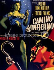 Camino del Infierno Vintage Mexican Cinema Movie Poster