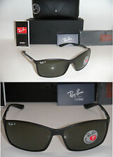 RAY BAN TECH LITEFORCE RB 4179 601-S/9A 62mm MATTE BLACK WITH GREEN POLARIZED