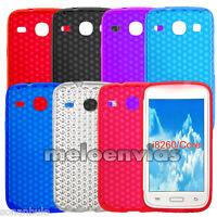 2 Fundas Gel TPU Samsung Galaxy CORE i8260 Case cover Azul Morado Negro Rosa etc