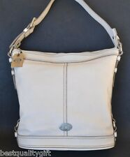 NEW FOSSIL MADDOX BUCKET WHITE LEATHER TOTE,HAND+SHOULDER BAG,PURSE