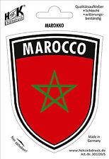 Pegatina para el parachoques coche Aplicación Decoración 10cm Bandera marroco