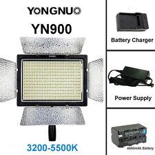 YONGNUO YN900 3200K-5500K LED Video Light + NP-F750 4400mAh Battery + Adapter