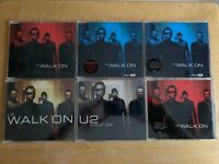 U2 ~ WALK ON - CD MAXI-SINGLES LOT OF 6 - USED - SOME RARE/IMPORTS