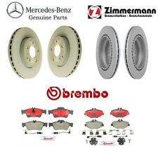 NEW Mercedes-Benz W211 E320 E350 Front and Rear Vented Brake Rotors with Pads