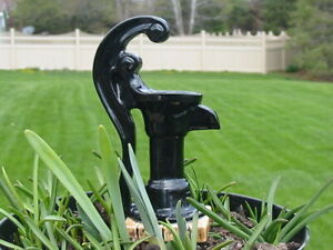 Vtg Self Watering Ceramic Cast Iron Water Well Pump Plant Water Decorative Spike