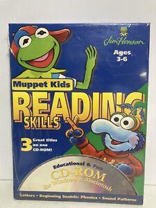 Vtg Muppet Kids Reading Skills Letters Beginning Sounds Phonics Patterns CD ROM