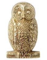 Solid Brass Owl Door Knocker - heavy antique & vintage animal bird door knockers