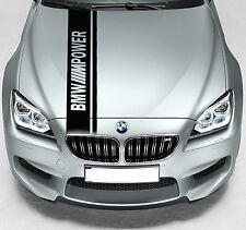 BMW M Power Dual Rally Hood Stripe Car VINYL STICKERS BANNER JDM DECALS Graphics
