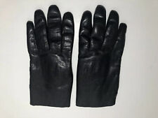 Vintage Dark Brown Leather Gloves Rabbit Fur Lined Italian Style Women's Small 6