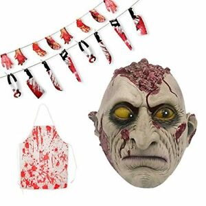 Gvirtue Creepy Scary Halloween Cosplay Costume Mask for Adults Party Favors