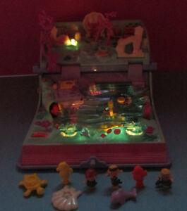 Polly Pocket Mini ♥ Unterwasserbuch Sparkling Mermaid Adventure ♥ 100% Komplett