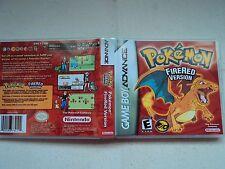 Sostituzione Gameboy Advance POKEMON VERSIONE ROSSO FUOCO BOX-custodia vuota GBA