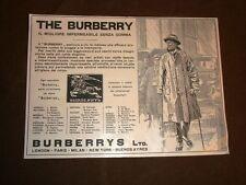 Pubblicità dei primi del '900 Impermeabile zenza gomma Burberry di Londra