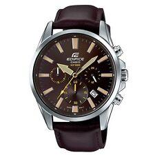Casio Edifice EFV-510L-5A Leather Strap Analog Chronograph Men's Watch