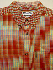 Columbia Mens S/S Orange Casual Shirt - Size Large