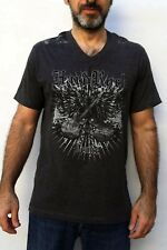 HARD ROCK Venice Italy Melange Grey DARKT-Shirt V neck Gothic LOOSE M VERY GOOD