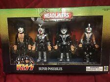 Kiss 2000 Rock Headliners Super Poseables Gene Simmons Paul Stanley Ace Peter NR